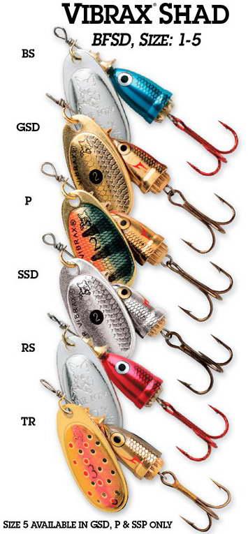0 Классика рыбалки Блю Фокс Супервибракс расцветки shad